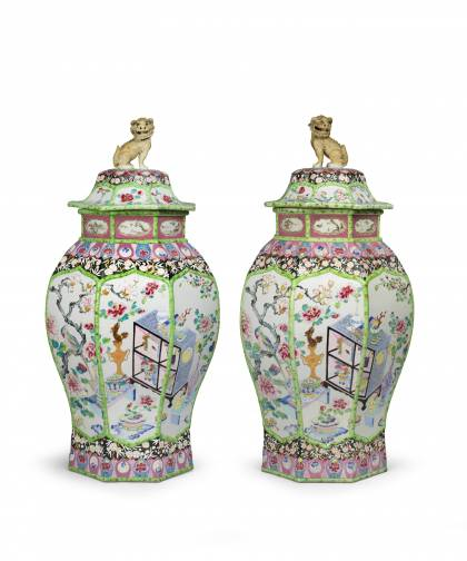Pair of Vases of the Hundred Treasures