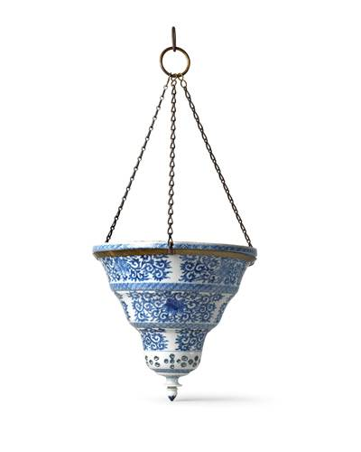 Rare blue and white Mosque Lamp