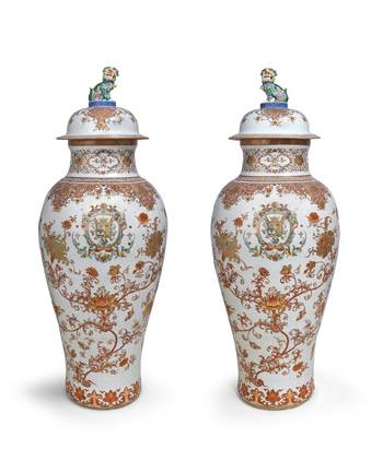 Pair of soldier vases